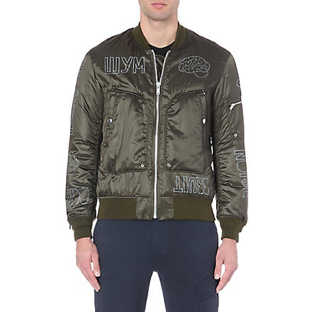 UNDERCOVER Printed satin bomber jacket (Khaki