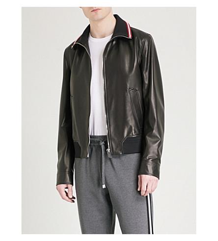 BALLY Speed-stripe leather jacket (Black