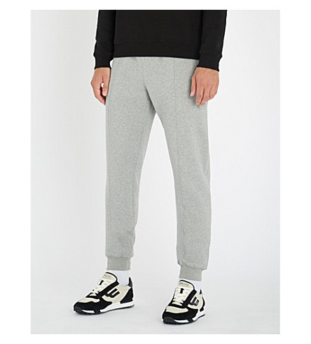 BALLY Logo-embroidered cotton-jersey jogging bottoms (Grey