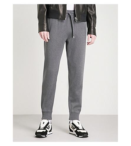 BALLY Side-stripe cotton jogging bottoms (Grey