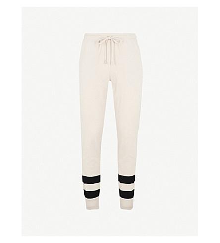 BALLY Striped wool jogging bottoms (Beige