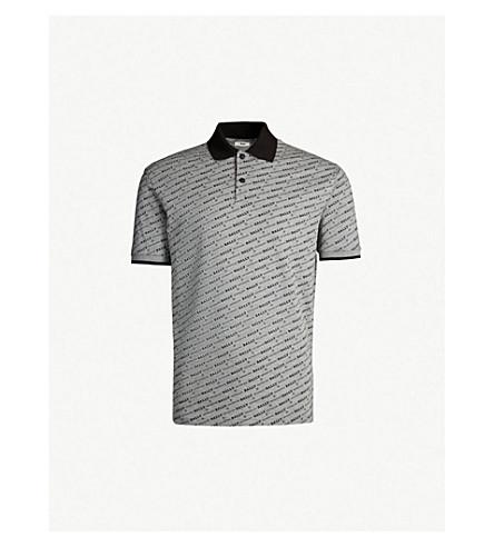 BALLY Logo-print cotton-piqué polo shirt (Grey