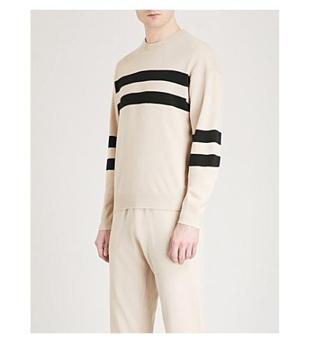 BALLY Striped wool jumper (Beige