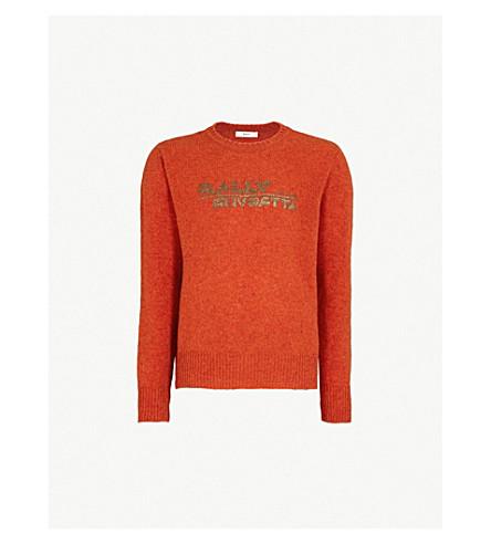 BALLY Logo-print wool jumper (Orange