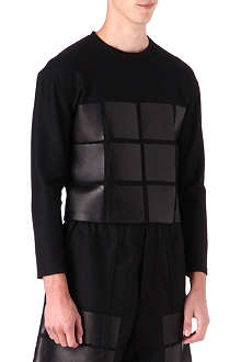 HIROAKI KANAI Leather detail top