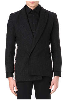 ALAN TAYLOR Asymmetric tweed jacket