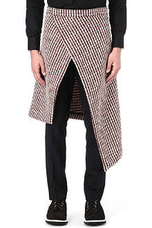 ALAN TAYLOR Tweed wrap kilt