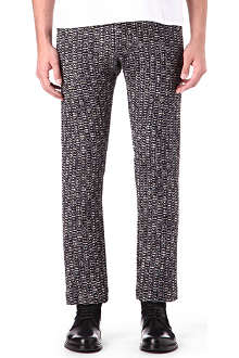 ALAN TAYLOR Slim-fit tweed cropped trousers
