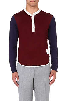 THOM BROWNE Eton wool-blend top