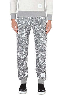 THOM BROWNE Leaf-print jogging bottoms