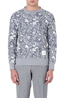 THOM BROWNE Printed cotton sweatshirt