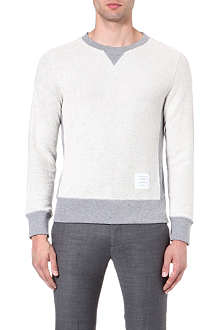 THOM BROWNE Reverse cotton sweatshirt