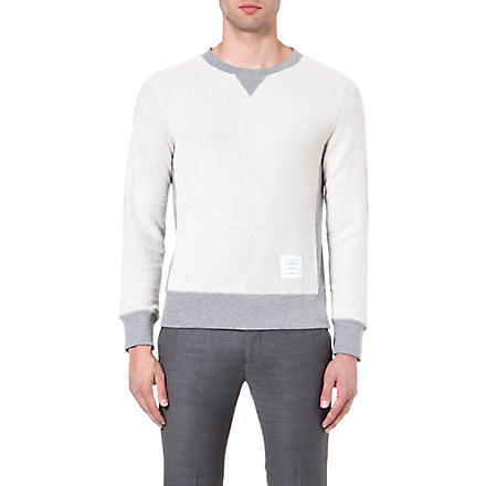 THOM BROWNE Reverse cotton sweatshirt (Grey