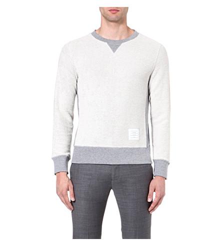 THOM BROWNE Reverse cotton sweatshirt (Grey