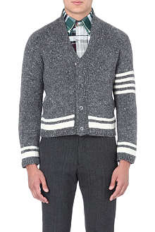 THOM BROWNE Striped shawl-collar cardigan