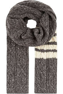 THOM BROWNE Cable knit scarf