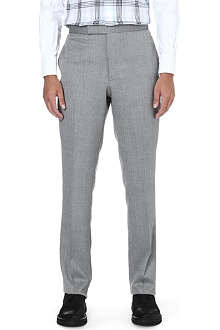 THOM BROWNE Straight mid-rise wool trousers
