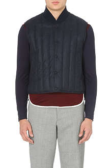 THOM BROWNE Down-filled cashmere-panel gilet
