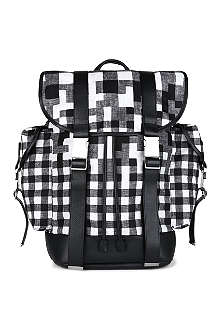 NEIL BARRETT Port Louis check nylon backpack