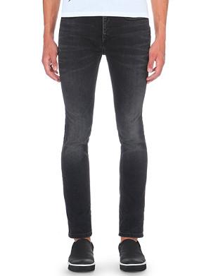 NEIL BARRETT Faded-wash slim-fit tapered jeans