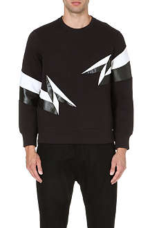 NEIL BARRETT Lightning-print sweatshirt