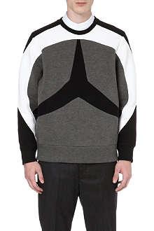 NEIL BARRETT Three-star zipped-side sweatshirt