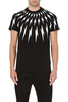 NEIL BARRETT Lightning-print t-shirt