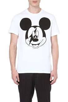 NEIL BARRETT Mickey Mouse cotton t-shirt