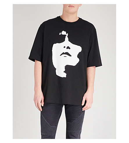 NEIL BARRETT Big face print T-shirt (Black