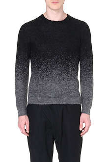 NEIL BARRETT Dégradé chunky knit jumper