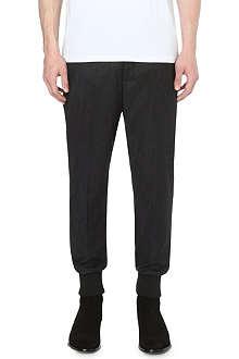NEIL BARRETT Cropped cuffed wool-blend trousers