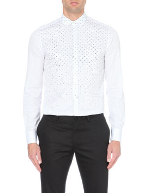 NEIL BARRETT Dots and stripes cotton shirt