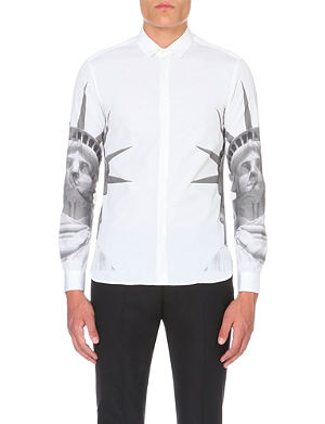 NEIL BARRETT Statue of Liberty-print cotton shirt