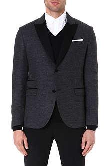 NEIL BARRETT Contrast-lapel tuxedo jacket