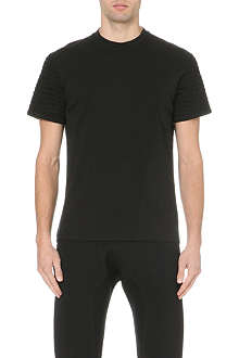 NEIL BARRETT Bonded ribbed-sleeve t-shirt