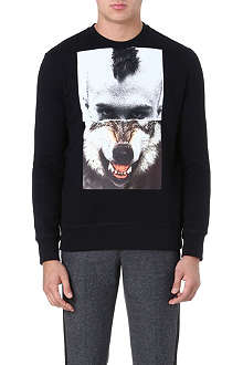 NEIL BARRETT Fitted cotton sweatshirt