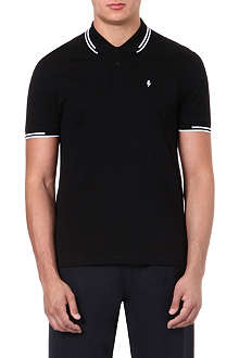 NEIL BARRETT Contrast-stripe polo shirt