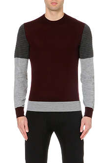 NEIL BARRETT Tri-colour wool jumper