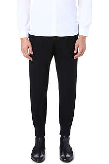 NEIL BARRETT Tapered wool-blend trousers