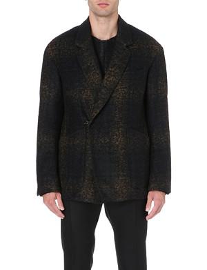 CERRUTI 1881 PARIS Faded tartan wool-blend jacket