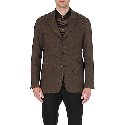 CERRUTI 1881 PARIS Cashmere and silk-blend jacket (Brown