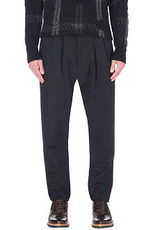 CERRUTI 1881 PARIS Tapered-leg wool mohair-blend trousers