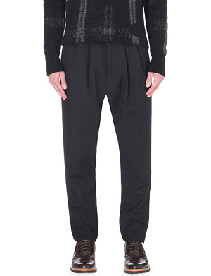 CERRUTI 1881 PARIS Tapered-leg wool mohair-blend trousers