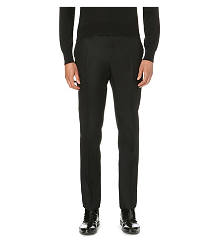 CERRUTI 1881 PARIS Nino slim-fit wool trousers (Black