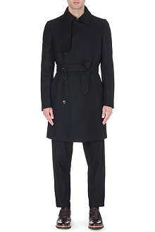 CERRUTI Belted wool trench coat
