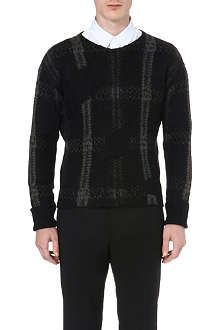 CERRUTI Checked knitted jumper
