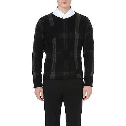 CERRUTI 1881 PARIS Checked knitted jumper (Black