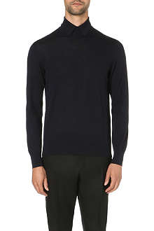 CERRUTI Knitted wool polo shirt