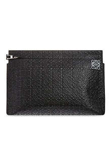 LOEWE Large embossed leather pouch