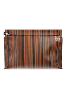 LOEWE Large leather multi-stripe pouch